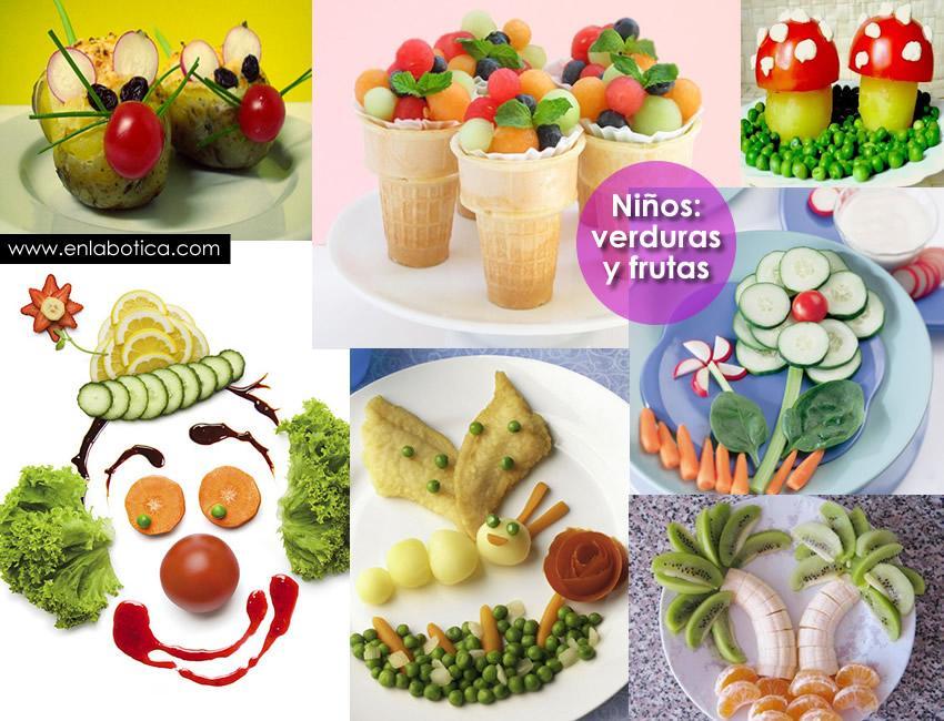 como lograr que los nios coman verduras y frutas
