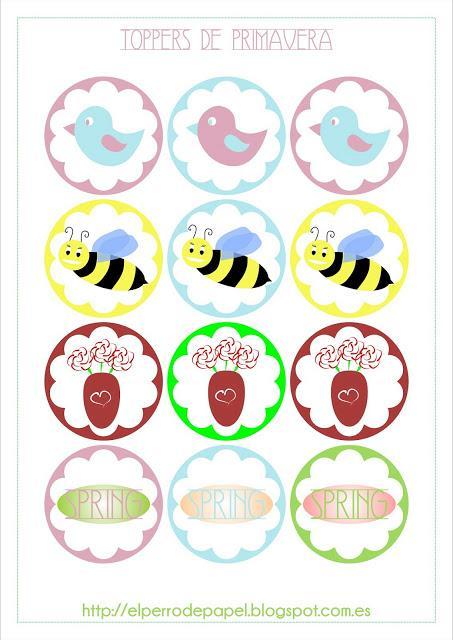 Imprimibles de Primavera Muy Dulces - Paperblog