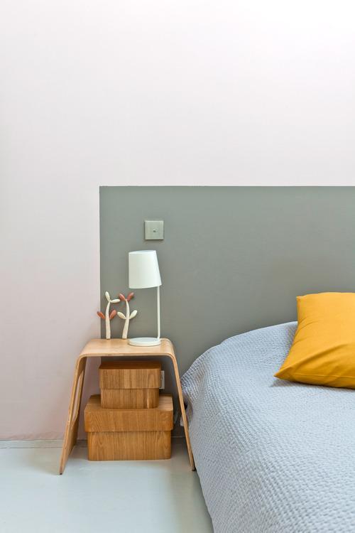 Un cabecero pintado moderno y diferente paperblog - Cabeceros pintados ...
