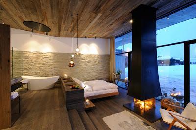 Hotel rustico y minimalista en austria paperblog for Casa minimalista rustica