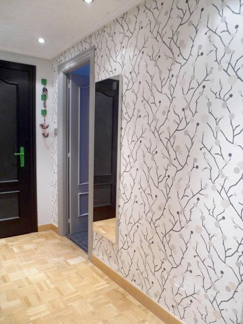 Operaci n makeover n 4 papel pintado en la entrada de casa for Papel pintado entrada