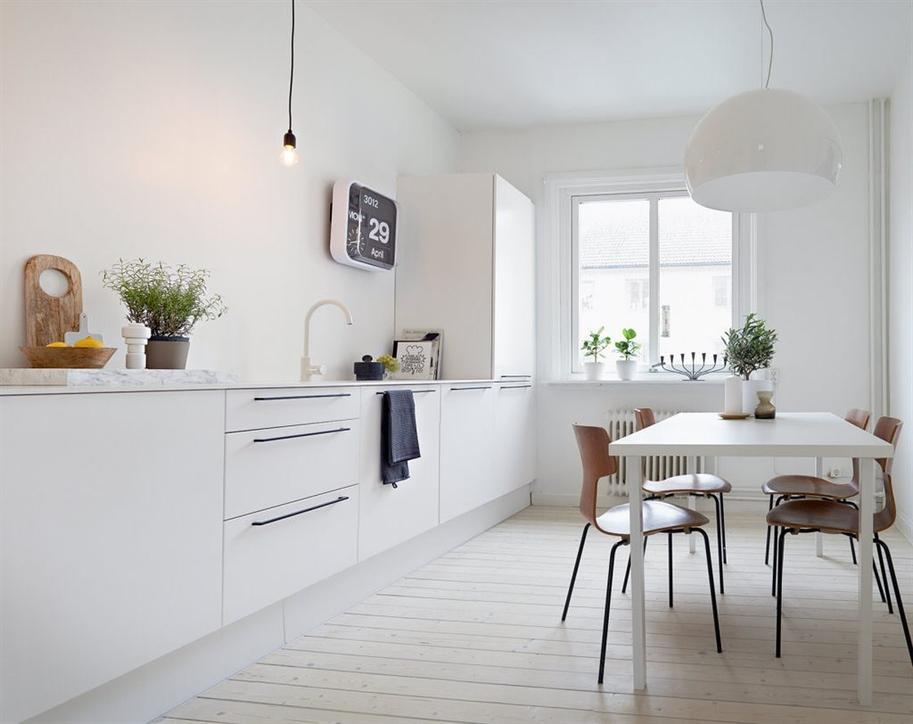 Una sencilla vivienda de estilo n rdico paperblog - Witte keukenfotos ...