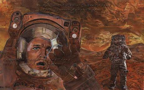 El gran misterio de Marte- Óleo sobre papel