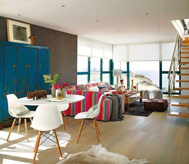 Una casa inundada de color paperblog for Comedor diario decoracion