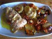 Pechuga pollo rellena horno