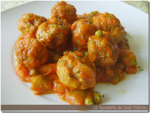 Alb ndigas con verduras en salsa de tomate paperblog for Albondigas de verduras
