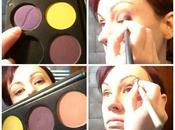 Maquillaje para empezar primavera (morado, amarillo, verde rosa)