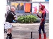 Rodaje Amazing Spider-Man Rhino calzoncillos