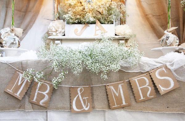 Top 25 Best Wedding Head Tables Ideas On Pinterest: DIY: ¡Personaliza Tu Boda Con Banderines!