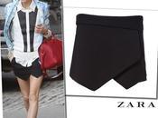 Olivia Palermo wearing Zara skort