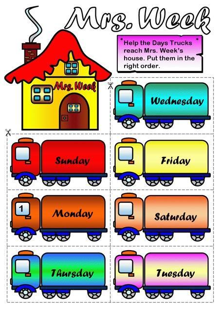 Los d as de la semana en ingl s paperblog - Aprender ingles en un mes ...