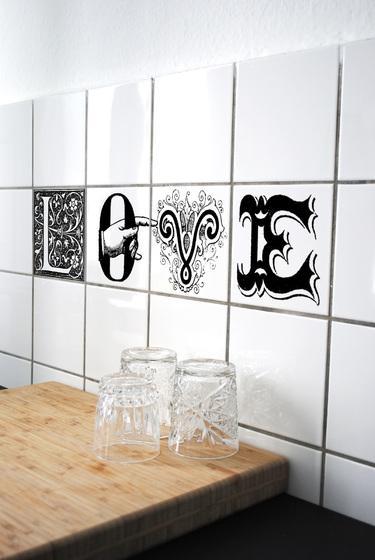 Alucinantes adhesivos para decorar azulejos paperblog - Pegatinas para azulejos ...