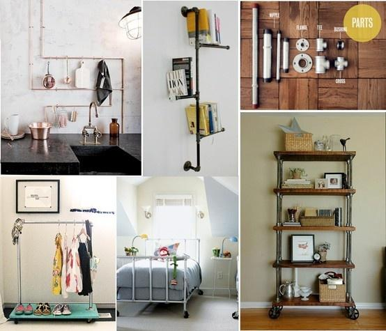 Crea tu mueble estilo industrial con tuber as paperblog for Muebles estilo industrial