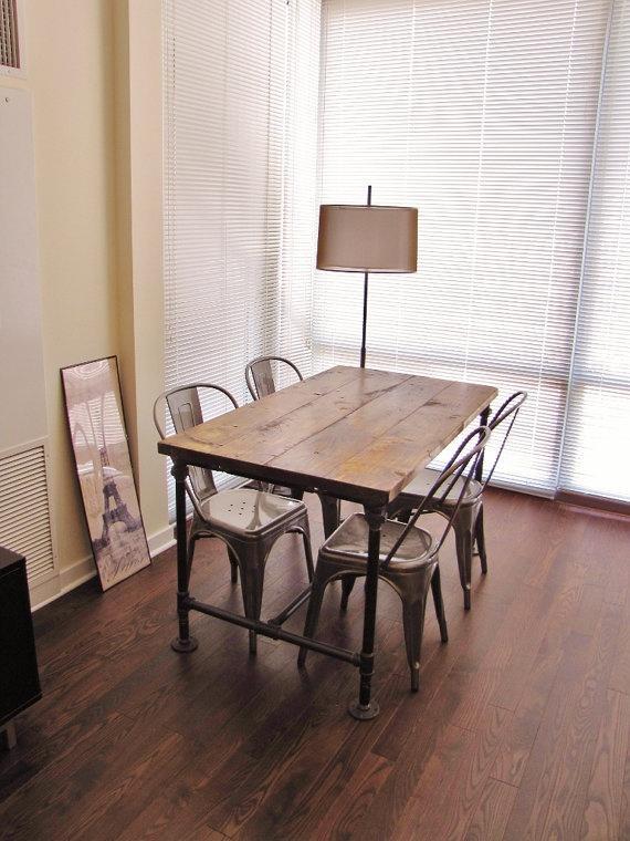 Crea tu mueble estilo industrial con tuber as paperblog - Como hacer una mesa estilo industrial ...