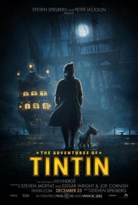 Tintin El Secreto del Unicornio Spielberg poster