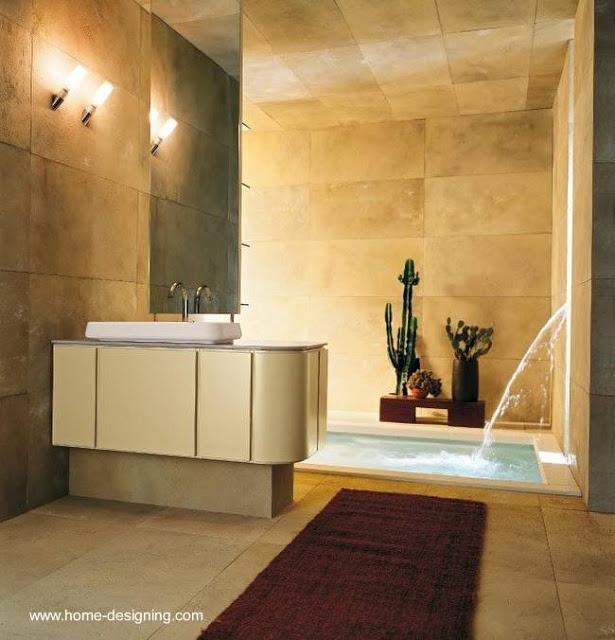 Baños Residenciales Modernos:Un baño de la nueva tendencia con mini-piscina y acceso a la luz del