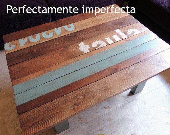Diy la mesa de palets imperfecta de teresa paperblog for Mesa de palets paso a paso