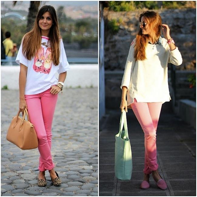 Pink pants paperblog for Colores para combinar con rosa