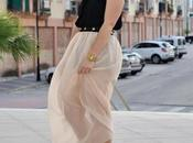 Look day: Nude Maxi Skirt