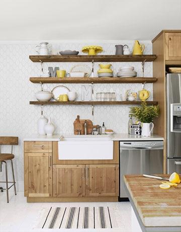 Organizar accesorios de cocina en estanter as abiertas paperblog - Estanterias para la cocina ...