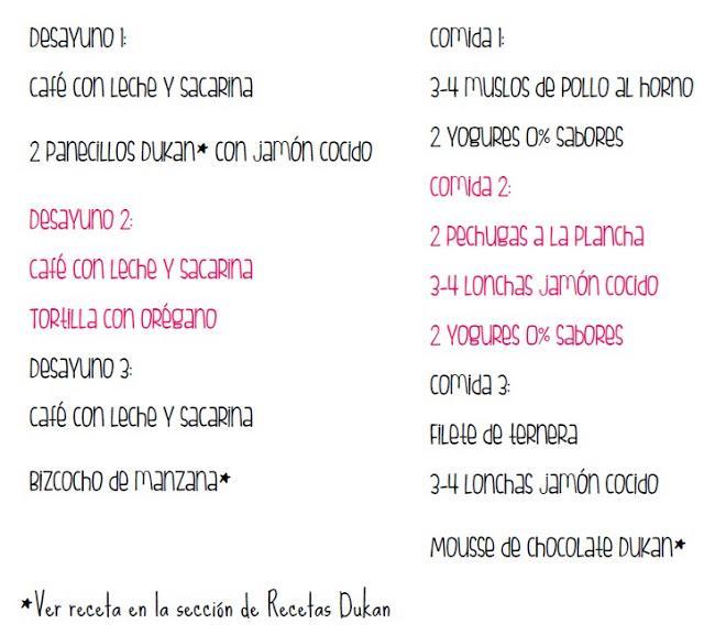 Dieta Dukan Fases Lista De La Compra Ejemplos De Menus Paperblog