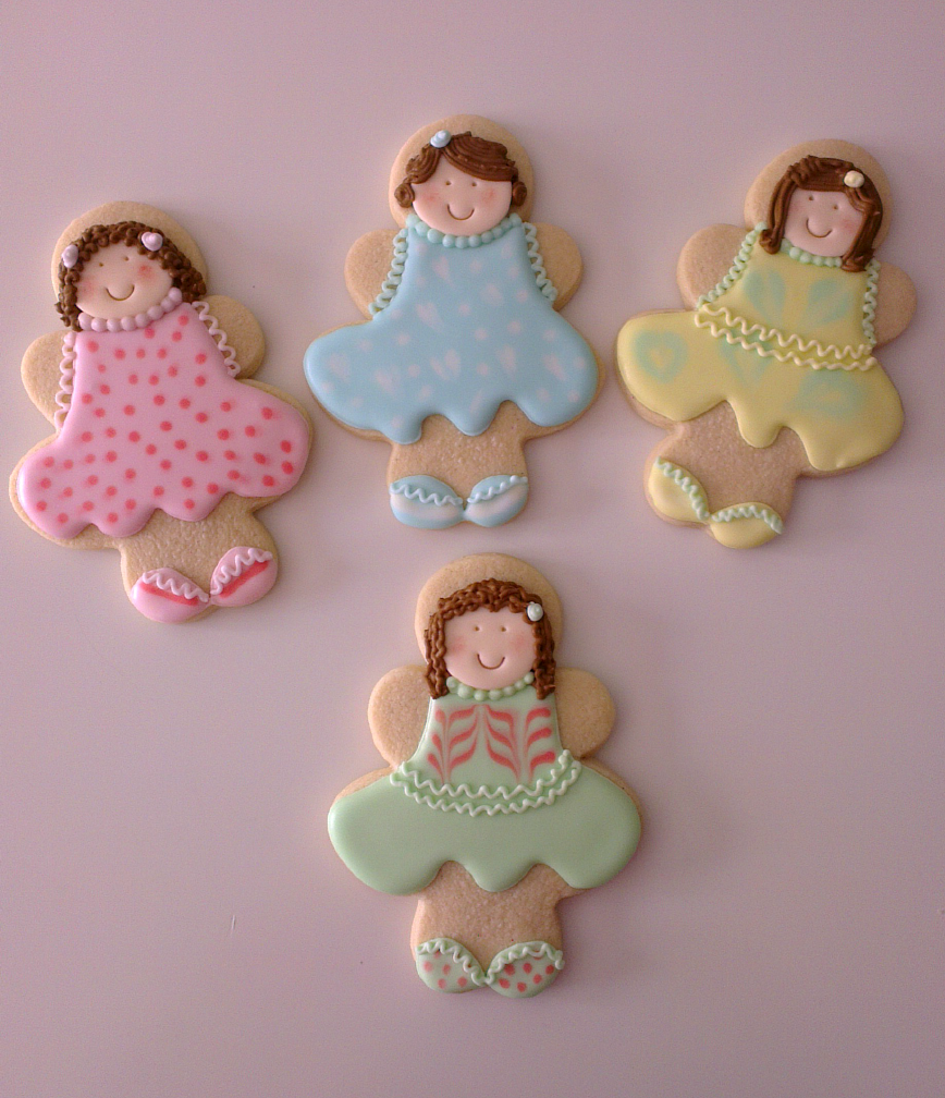 Galletas decoradas niñas y sirenas. Challenge yourself: Wet on wet ...