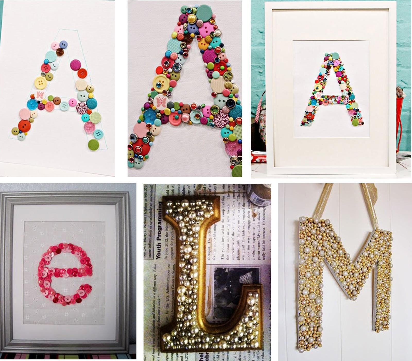 Letras personalicemos nuestras cosas paperblog - Ideas para decorar letras de madera ...