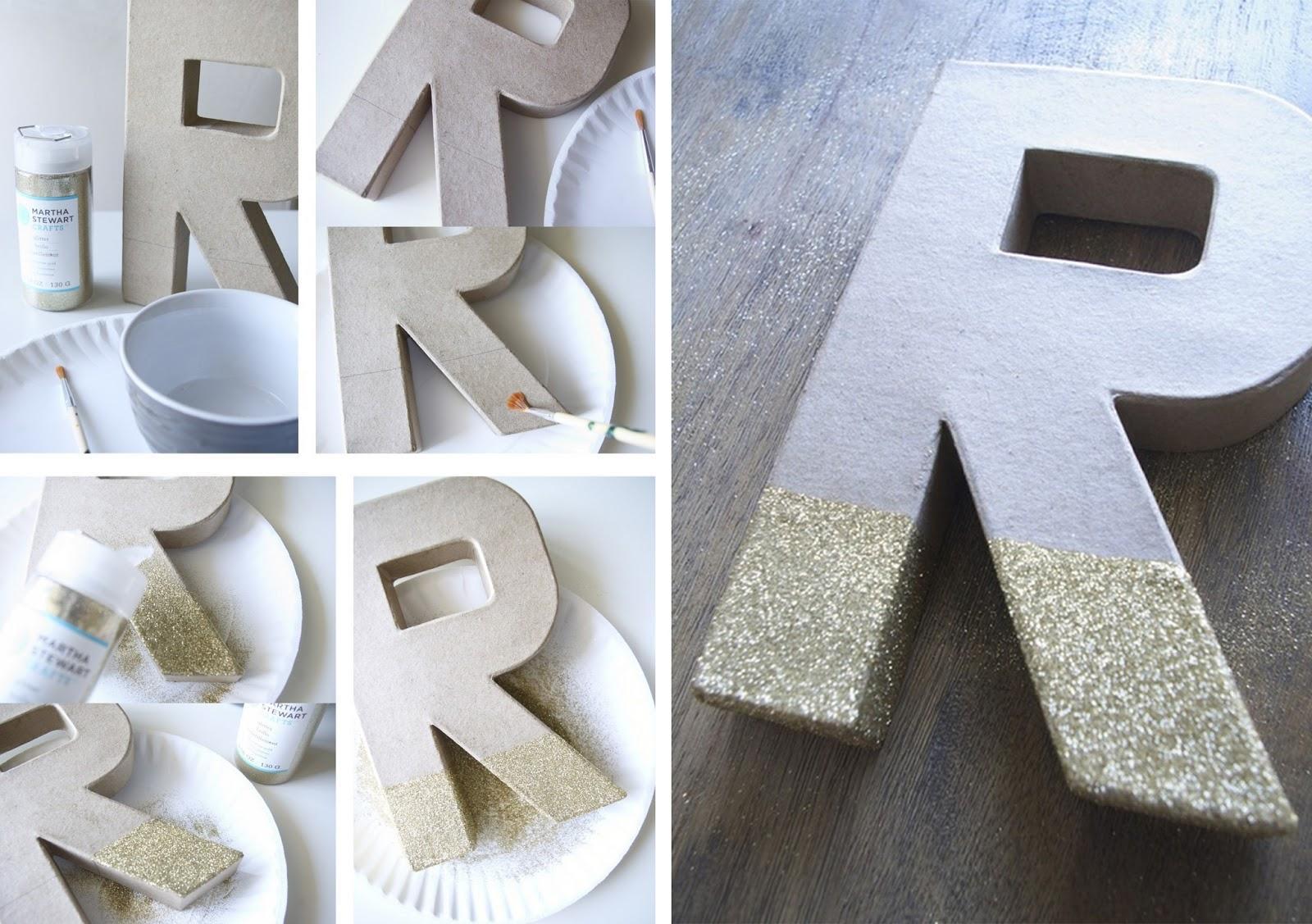Letras personalicemos nuestras cosas paperblog for Decoracion del hogar paso a paso