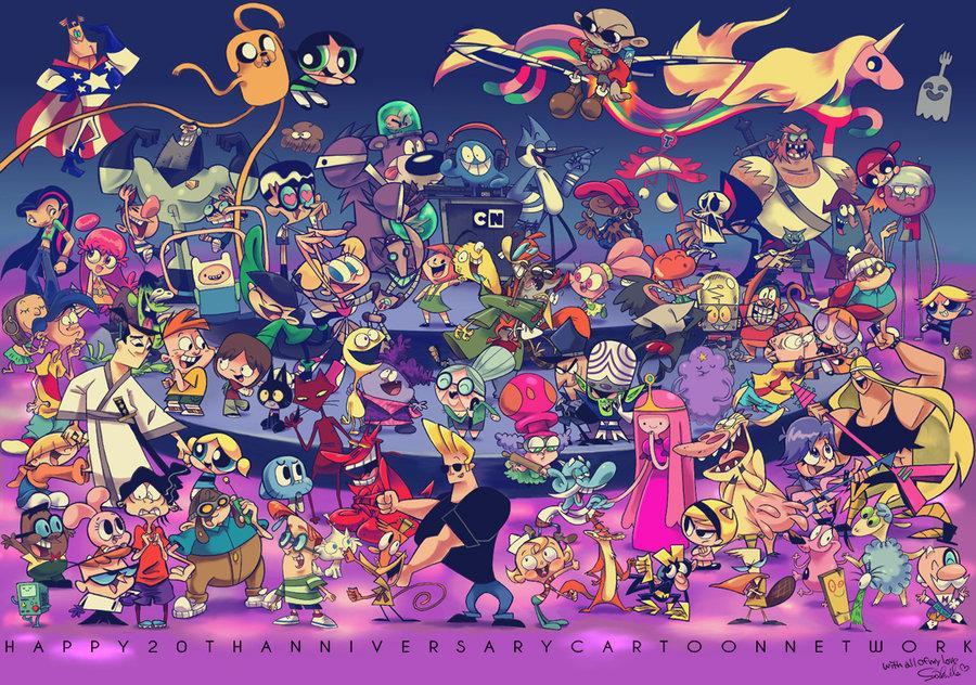 Aunque s 243 lo sean personajes de cartoon network da una idea muy buena