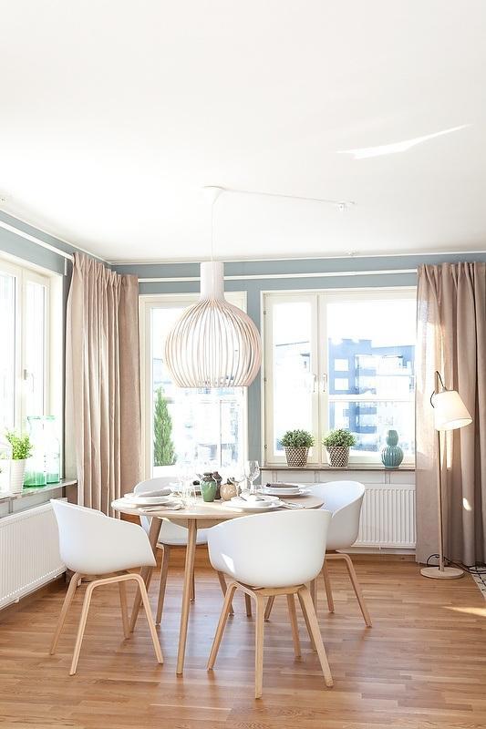 Cortinas en viviendas de estilo escandinavo paperblog - Salones estilo escandinavo ...