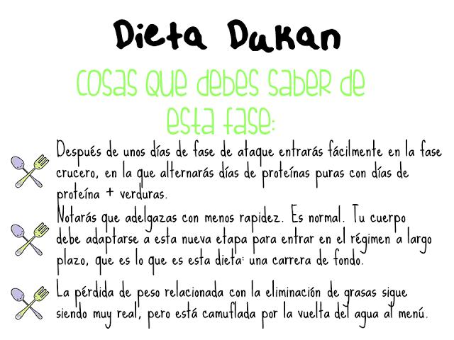 Lista de alimentos dieta dukano