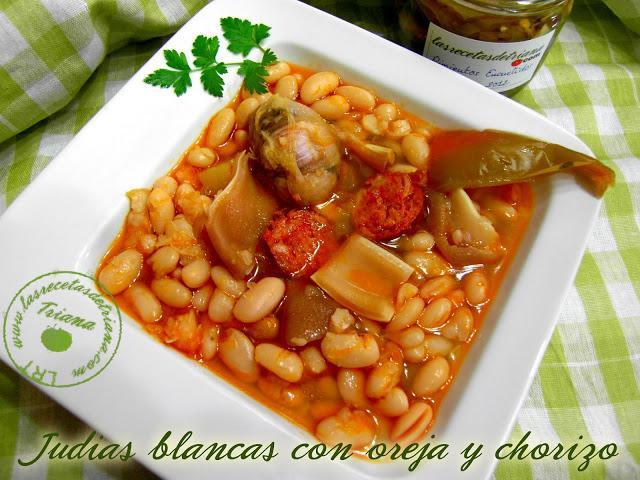 Judias blancas con oreja y chorizo paperblog for Cocinar oreja de cerdo