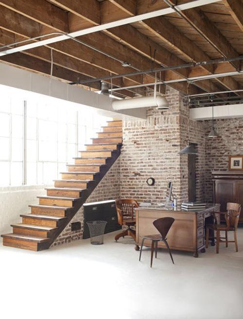 Paredes de ladrillo visto en el interior de las viviendas - Ladrillo visto interior ...