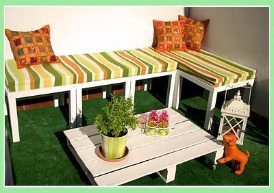 Sofas con palets organizar una boda foro - Bancos para terraza ...