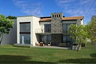 Atractiva fachada 3d de casa de los lagos en hermosillo for Fachadas de casas modernas en hermosillo
