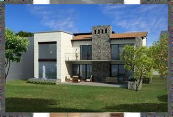 Preciosa fachada 3d de casa en los cabos mexico paperblog for Fachadas de casas modernas en hermosillo