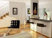 Renders Interiores Cocina Estar Villa Angela