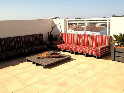 La terraza chill out de palets de maite