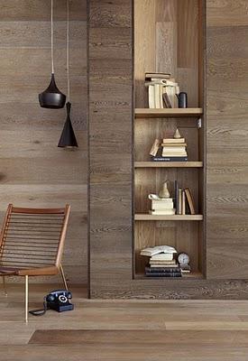 Madera en las paredes paperblog for Paredes forradas de madera