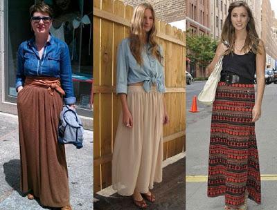 Vestidos y faldas largas