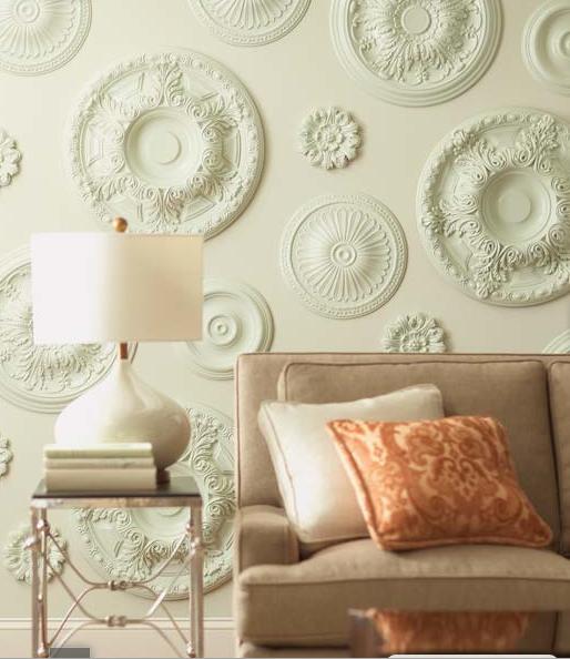Decorar las paredes con rosetones de escayola paperblog for Techo de escayola decoracion simple