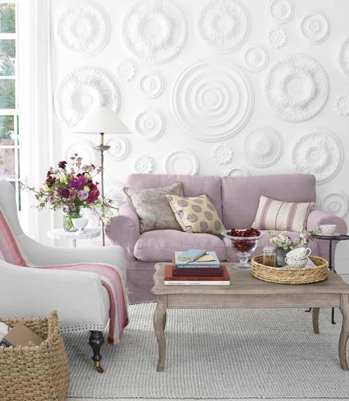 Decorar las paredes con rosetones de escayola paperblog - Decorar las paredes ...