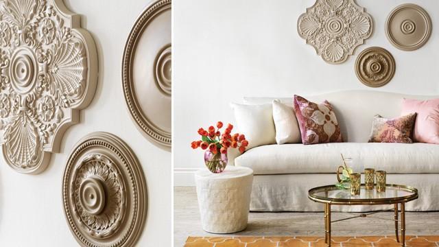 Decorar las paredes con rosetones de escayola paperblog - Decoracion de escayola ...