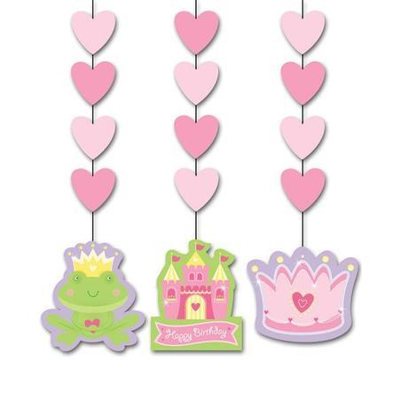decorados colgantes para una fiesta princesa