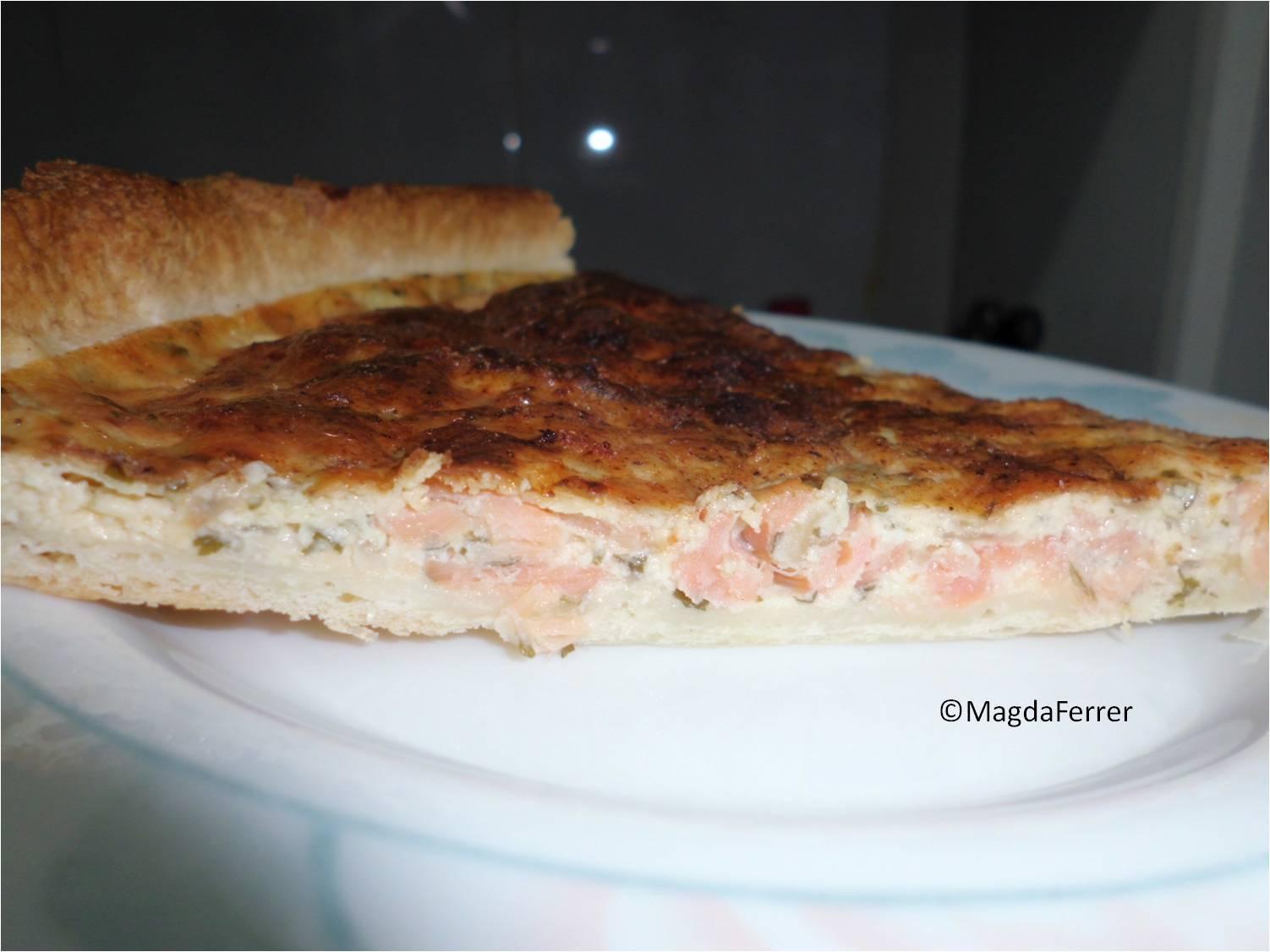 Quiche de salm n ahumado paperblog for Cocinar 180 grados