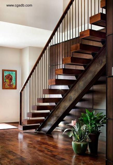 23 modelos de escaleras interiores paperblog for Como construir una escalera metalica