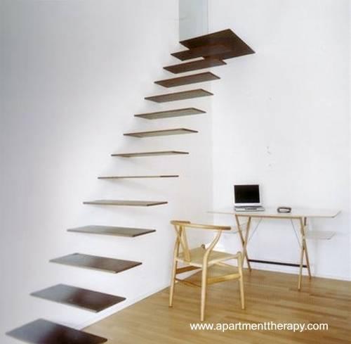 Escalera minimalista japonesa
