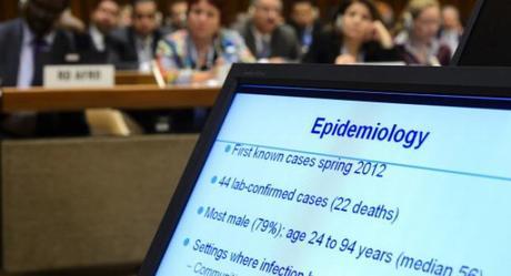 Durante la 66 Asamblea Mundial de la Salud en Ginebra, Suiza, 23 de mayo de 2013