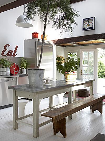 Un comedor con bancos de madera paperblog - Bancos para comedor ...