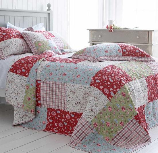 Colchas de patchwork en dormitorios paperblog - Colcha patchwork ...